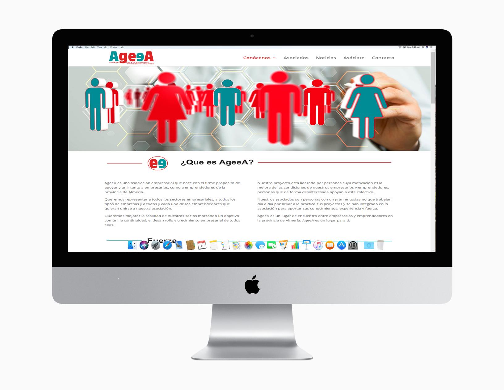 AgeeaAsociación General de Empresarios y Emprendedores de AlmeríaDiseño de toda la imágen corporativa con creación de logo, aplicación a soportes diversos, campañas, fotografías y creación de web.